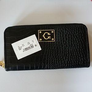 Black and gold crock print wallet